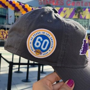 Lakers New Era Cap with Anniversary Patch